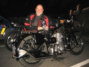 Paul with his award wining Velocette 350 Mac